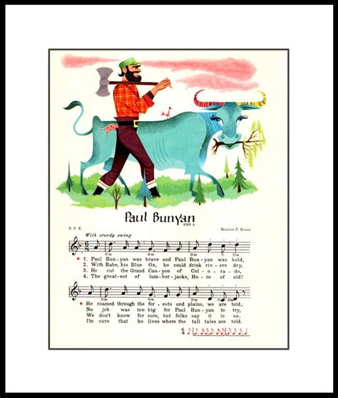 printable version of paul bunyan paul bunyan lumberjack poster printor instant by zeeposter