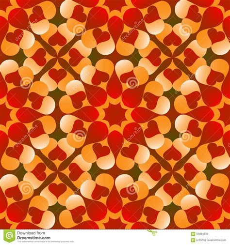 heart gradient pattern romantic valentine s seamless pattern with flowers of red