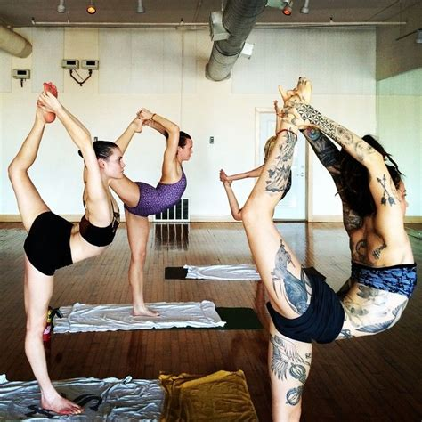 tattoo and hot yoga weareyoga gianna purcell and friends the tattooed yogi