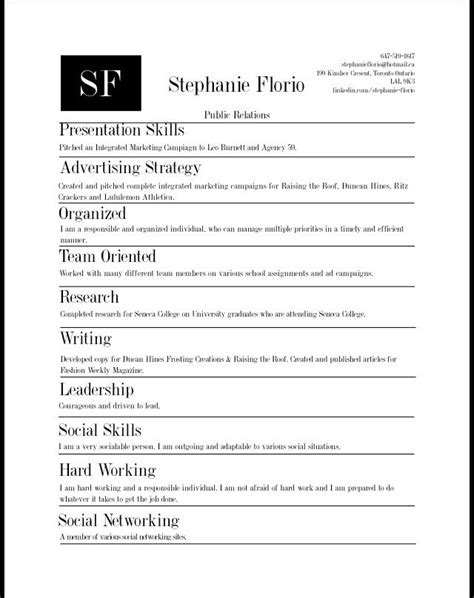Skills Based Resume by Skills Based Resume Hire Me Portfolio