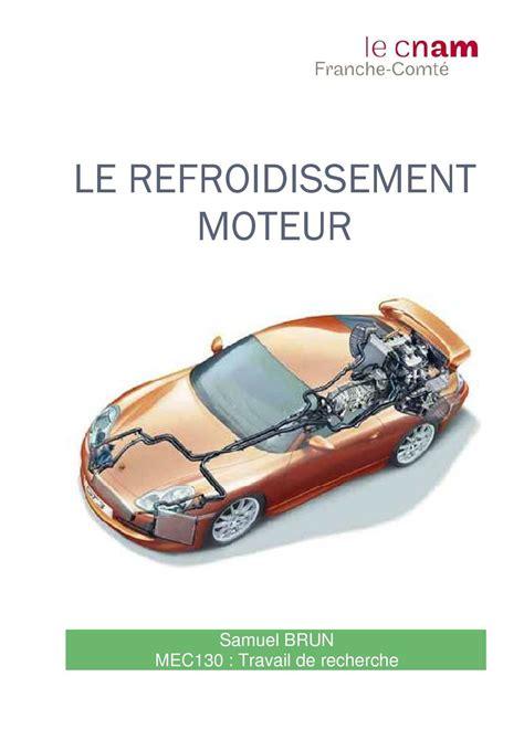 diagramme fast moteur thermique calam 233 o le refroidissement moteur