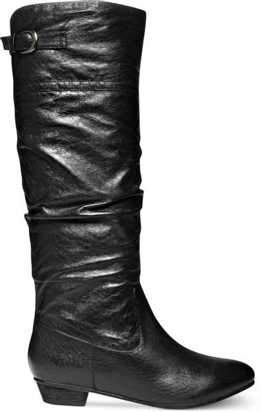 steve madden craave shaft boots in black lyst