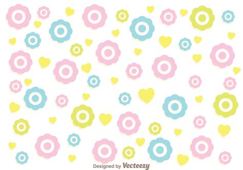 colorful pattern vector colorful flowers girly pattern vector download free