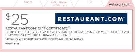 Restaurant Com Gift Card Participating Restaurants - restaurant com gift certificate
