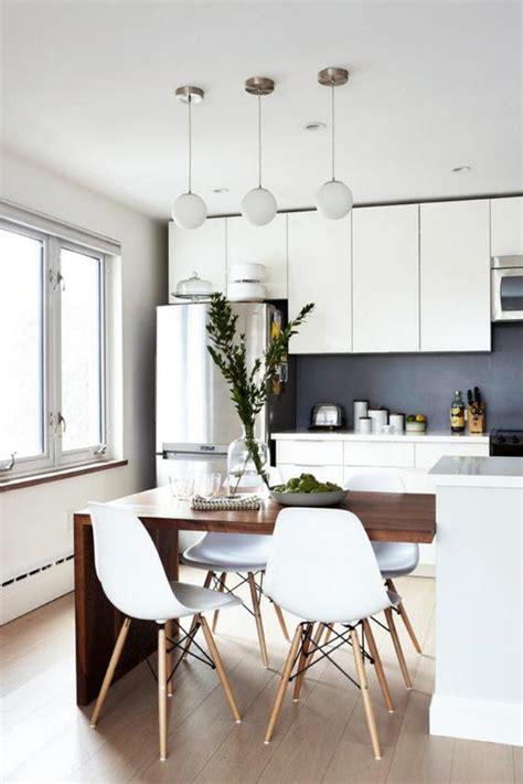 la cuisine blanche  bois en   inspirantes