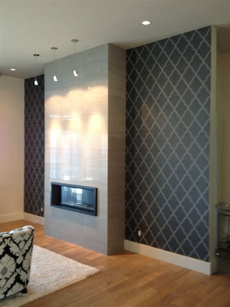 living room fireplace feature wall contemporary living