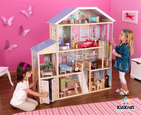 play doll houses kidkraft majestic mansion deluxe pretend play dollhouse ebay