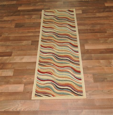 rubber backed rug new heatwave ivory modern design rubber backed durable runner rug carpet ebay