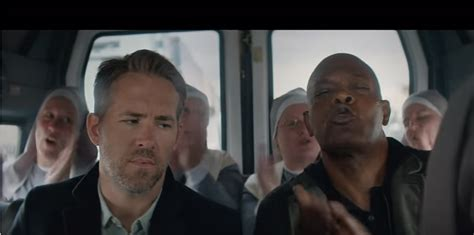 the hitmans bodyguard and samuel l jackson with singing