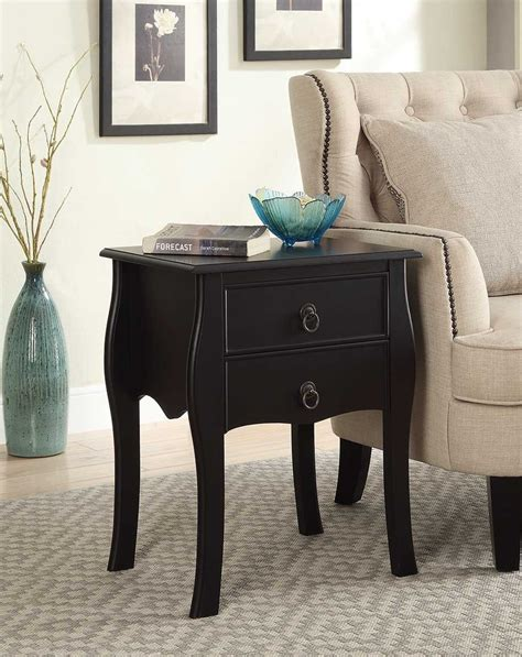 accent table with drawer 2 drawer end table home furniture design