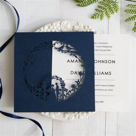 blue themed wedding invitations 36 best images about wedding invitations on