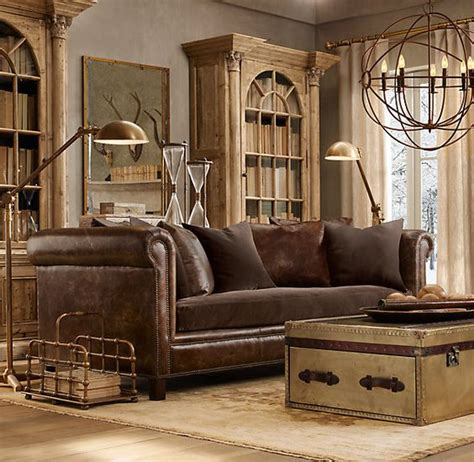 restoration hardware living room restoration hardware living room looks like ours leather sofa trunk rug but no