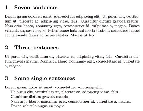 section 20 gbh sentence lipsum one sentence of dummy text tex latex stack