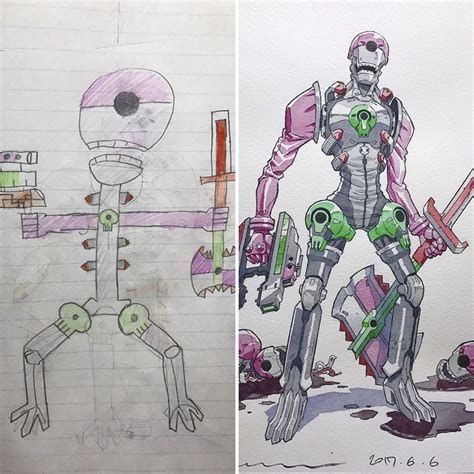 doodle name adi turns his sons doodles into anime characters