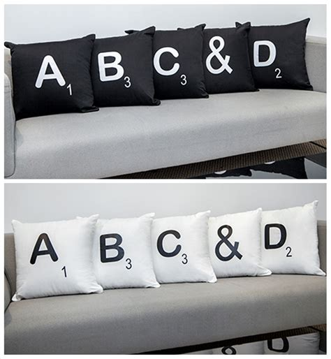 scrabble letter cushions scrabble letters 100 cotton cushion covers with pads