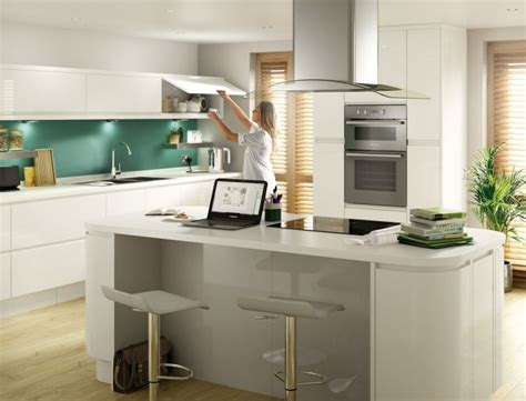 white gloss curved kitchen units 22 best kitchens images on