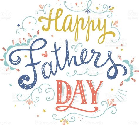happy fathers day happy fathers day vector card stock vector more
