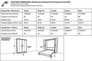 Toddler Size Murphy Bed Cabinet Dimensions