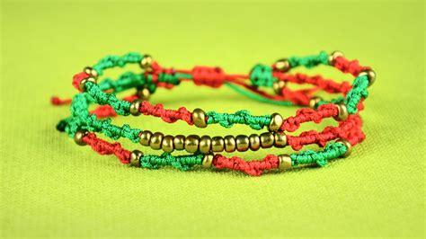 Easy Macrame Bracelet Tutorial - boho spiral bracelets easy macrame tutorial