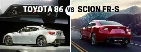 2017 Vs 2016 Brz by 2017 Toyota 86 Vs 2016 Scion Fr S Comparison