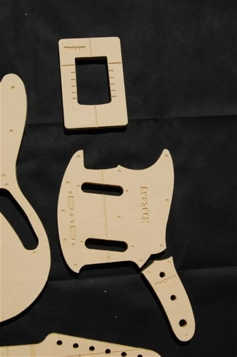 Guitar Router Templates by Mustang Guitar Router Template Set 1 2 Quot Mdf Cnc
