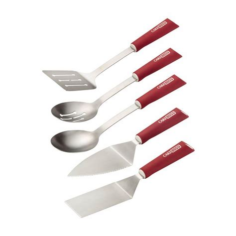 Red Kitchen Tools - cake boss tools and gadgets stainless steel red kitchen utensil set set of 5 55083 the home