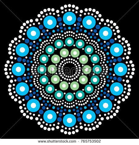 dot pattern mandala christmas white snowflake dot art vector stock vector