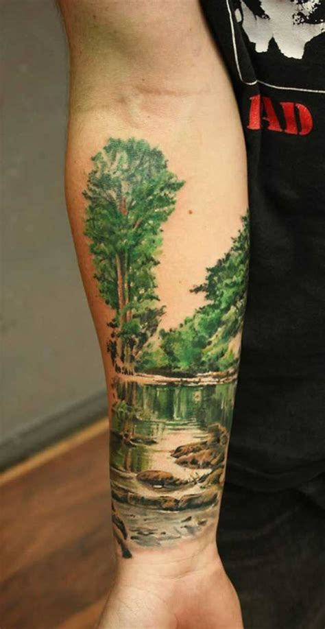 nature tattoo 20 scenic landscape tattoos tatting and