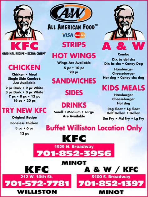 Yellowbook Com Say Yellow To The Future Kfc Lunch Buffet Hours
