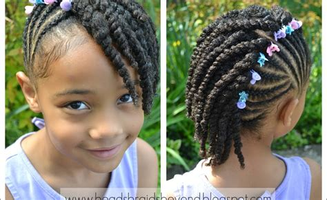 Side Twist Hairstyle by Side Cornrows With Two Strand Twists Twist Hairstyles