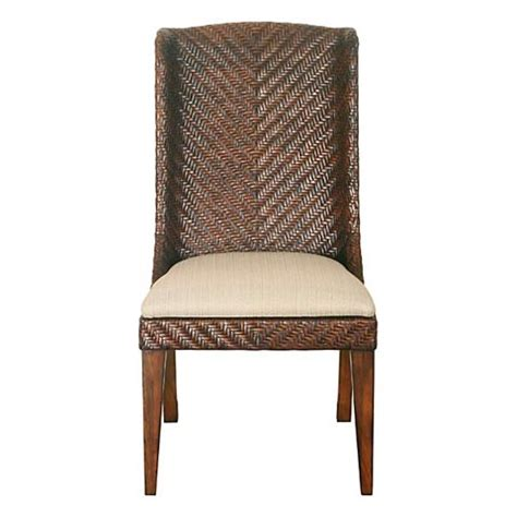 Bassett Dining Chairs Bassett 4700 K685 Dining Chairs Woven Dining Chair Discount Furniture At Hickory Park Furniture