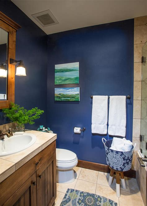 navy blue bathrooms photos hgtv