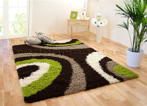 green and brown rugs uk large chocolate brown lime green beige ivory shaggy rug 240x340 ebay