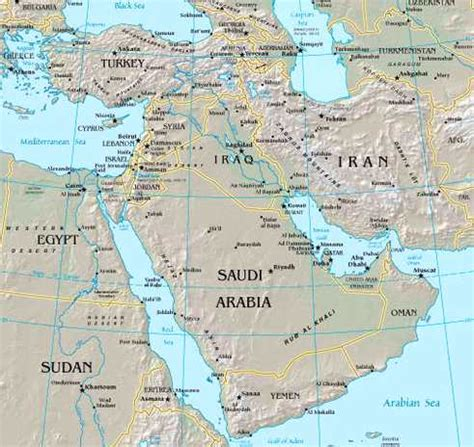 middle east map africa and southwest asia middle east africa and southwest asia map