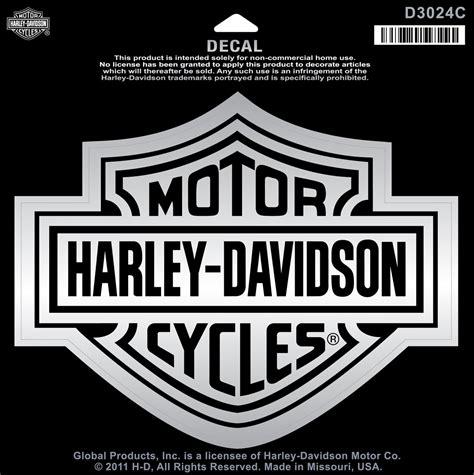 Harley Aufkleber Chrom by Harley Davidson Aufkleber Bar Shield Chrom Xl Im