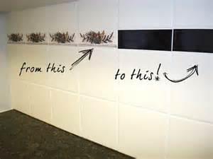 Washable Wallpaper For Kitchen Backsplash disguising ugly feature tiles alipar