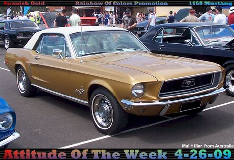 ford gold paint gold 1968 mustang paint cross reference