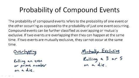 Compound Events Probability Worksheet by Worksheets Compound Events Worksheet Opossumsoft