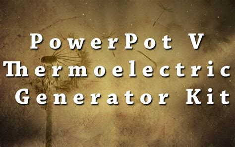 Powerpot V Thermoelectric Generator Pot powerpot v thermoelectric generator kit grid power boom