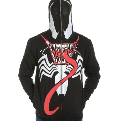 Hoodie Ziipper Venom Cloth venom zip mask hoodie costume ideas 2016
