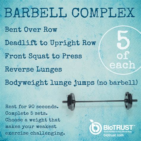 barbell complex barbell complex fitness workouts front