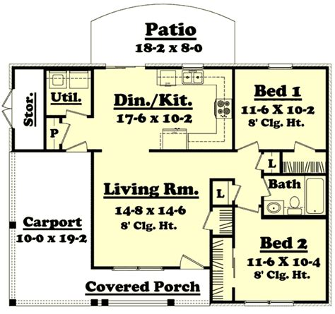 900 sq ft house plans 3 bedroom traditional style house plans 900 square foot home 1 story 2 bedroom and 1 bath