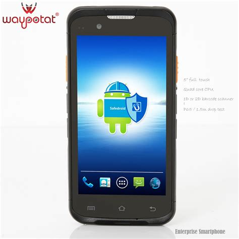 newest android waypotat 2016 rugged android smartphone with barcode scanner i6300 buy android rugged