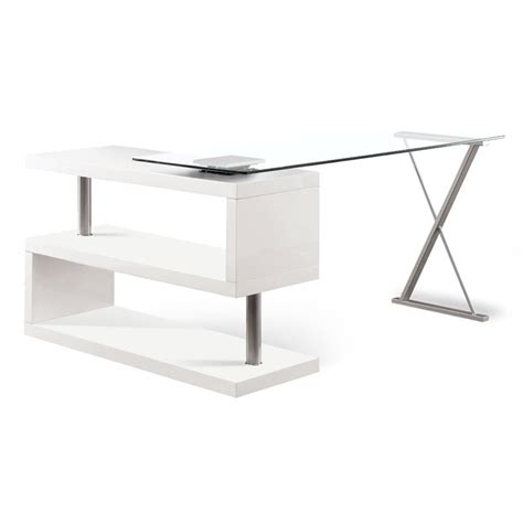 Furniture Of America Fiora Modern Swivel Computer Desk In Cymax Computer Desk