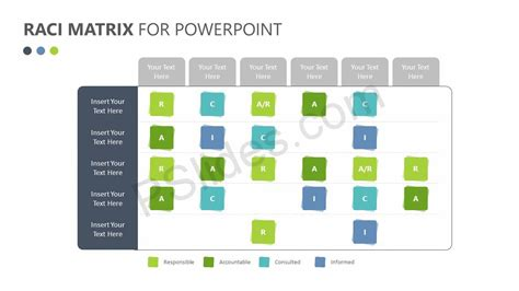 Raci Matrix For Powerpoint Pslides Raci Powerpoint Template