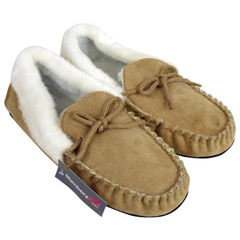 moccasin slippers womens moccasin faux suede leather slippers warm