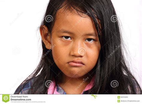 angry little girl in pink isolated on a white background angry little girl stock photo image 60310293