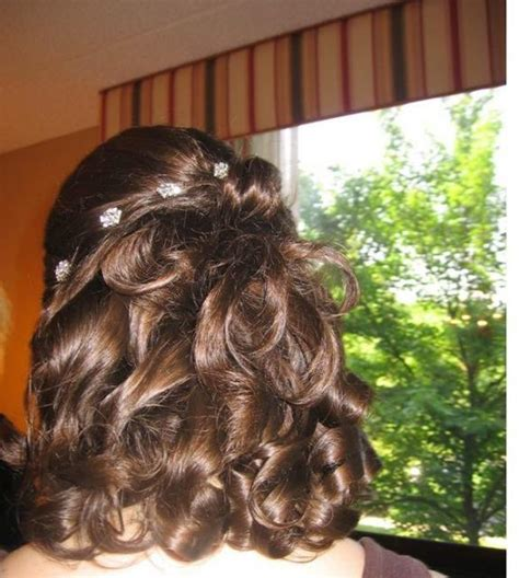 Wedding Hairstyles For Small by And Curly Wedding Hairstyle With Small Hair Jpg