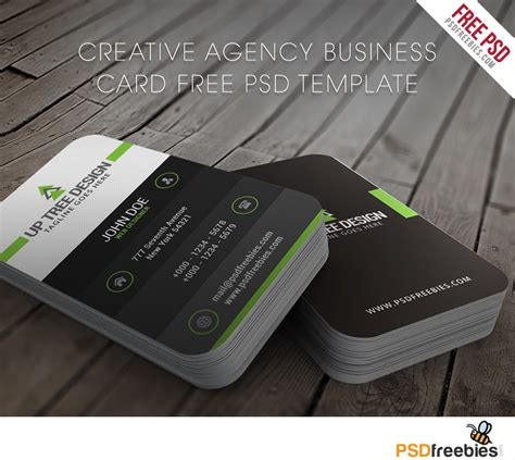 black and white business cards templates psd creative agency business card free psd template
