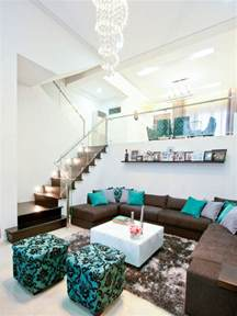 Turquoise and brown houzz